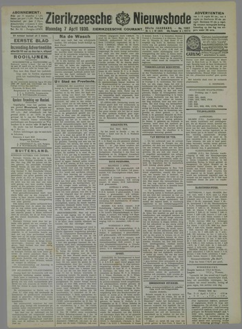 Zierikzeesche Nieuwsbode 1930-04-07