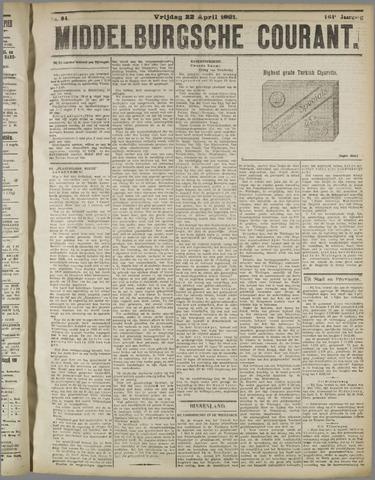 Middelburgsche Courant 1921-04-22