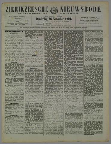 Zierikzeesche Nieuwsbode 1903-11-26