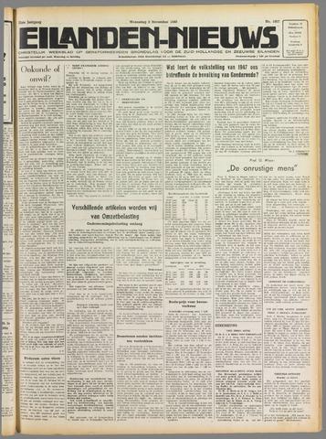 Eilanden-nieuws. Christelijk streekblad op gereformeerde grondslag 1949-11-02
