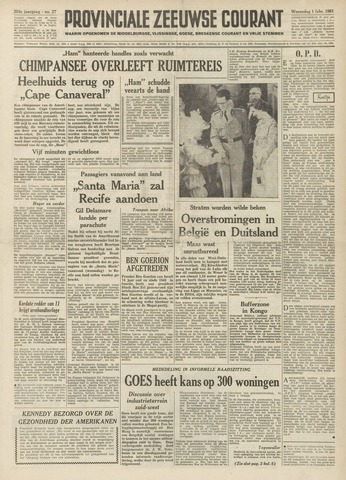 Provinciale Zeeuwse Courant 1961-02-01