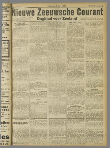 Nieuwe Zeeuwsche Courant 1920-04-07