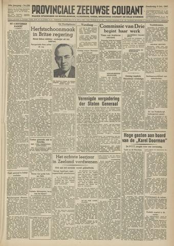 Provinciale Zeeuwse Courant 1947-10-09