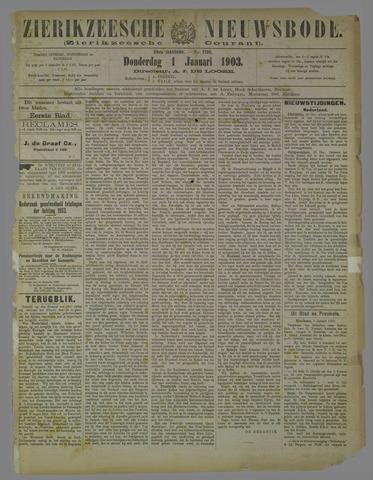 Zierikzeesche Nieuwsbode 1903-01-01