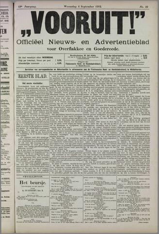"""""""Vooruit!""""Officieel Nieuws- en Advertentieblad voor Overflakkee en Goedereede 1912-09-04"""