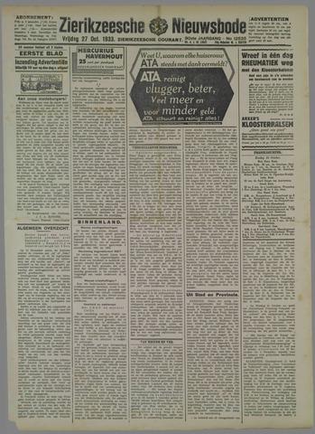 Zierikzeesche Nieuwsbode 1933-10-27