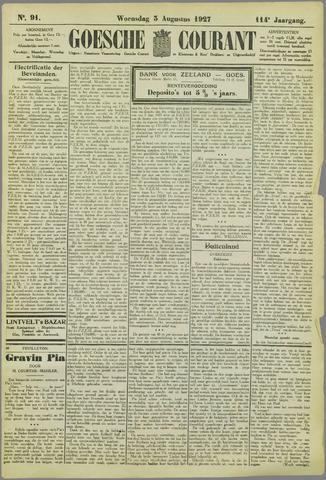 Goessche Courant 1927-08-03