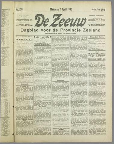 De Zeeuw. Christelijk-historisch nieuwsblad voor Zeeland 1930-04-07