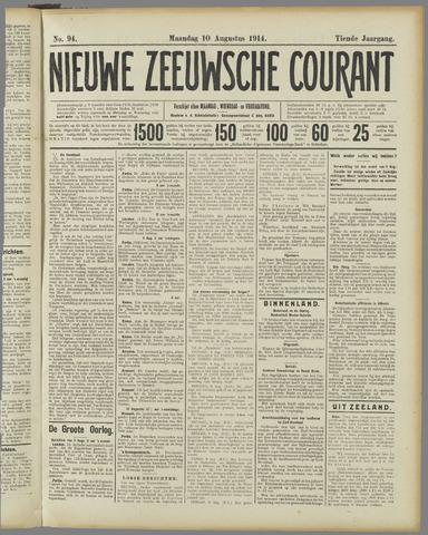 Nieuwe Zeeuwsche Courant 1914-08-10