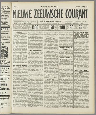 Nieuwe Zeeuwsche Courant 1915-07-13