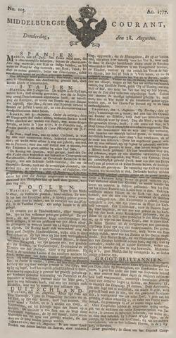 Middelburgsche Courant 1777-08-28