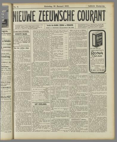 Nieuwe Zeeuwsche Courant 1912-01-20