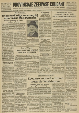 Provinciale Zeeuwse Courant 1951-04-09