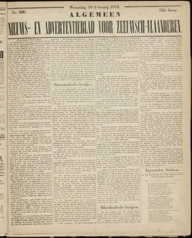 Ter Neuzensche Courant. Algemeen Nieuws- en Advertentieblad voor Zeeuwsch-Vlaanderen / Neuzensche Courant ... (idem) / (Algemeen) nieuws en advertentieblad voor Zeeuwsch-Vlaanderen 1873-02-19