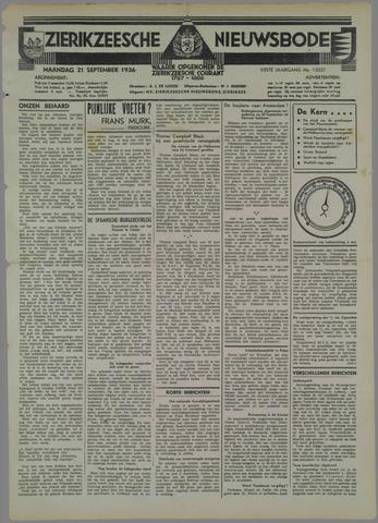 Zierikzeesche Nieuwsbode 1936-09-21