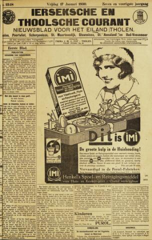 Ierseksche en Thoolsche Courant 1930-01-17