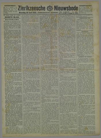 Zierikzeesche Nieuwsbode 1923-04-30