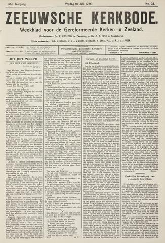 Zeeuwsche kerkbode, weekblad gewijd aan de belangen der gereformeerde kerken/ Zeeuwsch kerkblad 1925-07-10