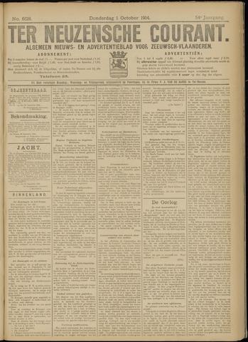 Ter Neuzensche Courant. Algemeen Nieuws- en Advertentieblad voor Zeeuwsch-Vlaanderen / Neuzensche Courant ... (idem) / (Algemeen) nieuws en advertentieblad voor Zeeuwsch-Vlaanderen 1914-10-01