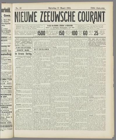 Nieuwe Zeeuwsche Courant 1915-03-27