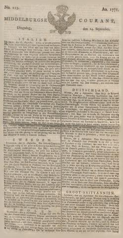 Middelburgsche Courant 1771-09-24