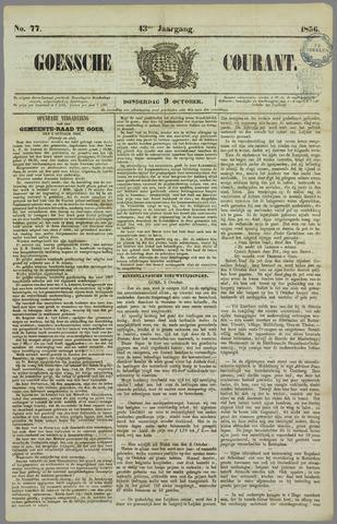Goessche Courant 1856-10-09