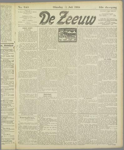 De Zeeuw. Christelijk-historisch nieuwsblad voor Zeeland 1919-07-15