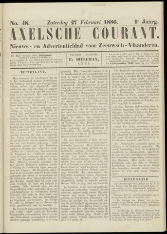 Axelsche Courant 1886-02-27