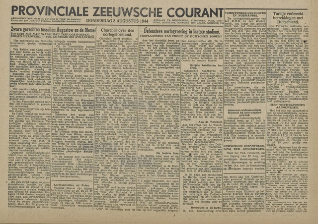 Provinciale Zeeuwse Courant 1944-08-03