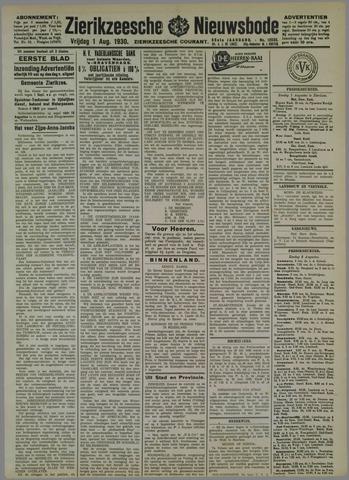 Zierikzeesche Nieuwsbode 1930-08-01