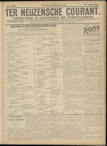 Ter Neuzensche Courant. Algemeen Nieuws- en Advertentieblad voor Zeeuwsch-Vlaanderen / Neuzensche Courant ... (idem) / (Algemeen) nieuws en advertentieblad voor Zeeuwsch-Vlaanderen 1927-04-27