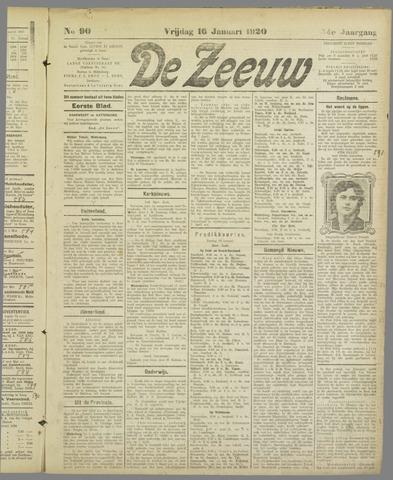 De Zeeuw. Christelijk-historisch nieuwsblad voor Zeeland 1920-01-16