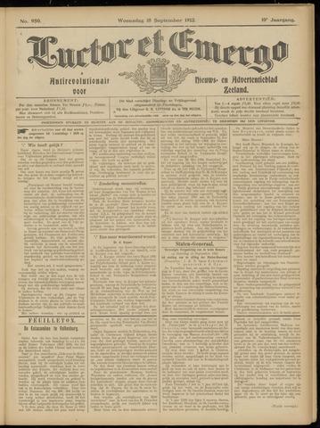 Luctor et Emergo. Antirevolutionair nieuws- en advertentieblad voor Zeeland / Zeeuwsch-Vlaanderen. Orgaan ter verspreiding van de christelijke beginselen in Zeeuwsch-Vlaanderen 1912-09-18