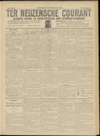 Ter Neuzensche Courant. Algemeen Nieuws- en Advertentieblad voor Zeeuwsch-Vlaanderen / Neuzensche Courant ... (idem) / (Algemeen) nieuws en advertentieblad voor Zeeuwsch-Vlaanderen 1937-02-03