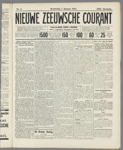 Nieuwe Zeeuwsche Courant 1915-01-07