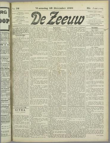 De Zeeuw. Christelijk-historisch nieuwsblad voor Zeeland 1920-12-29