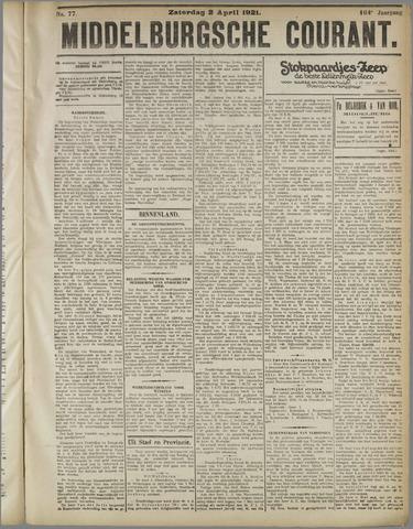 Middelburgsche Courant 1921-04-02