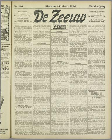 De Zeeuw. Christelijk-historisch nieuwsblad voor Zeeland 1924-03-10
