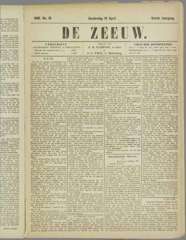 De Zeeuw. Christelijk-historisch nieuwsblad voor Zeeland 1890-04-10