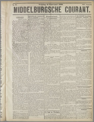 Middelburgsche Courant 1922-02-10