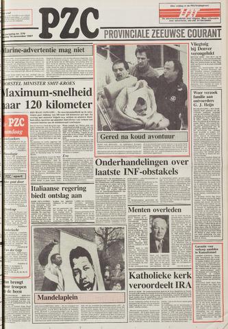 Provinciale Zeeuwse Courant 1987-11-16