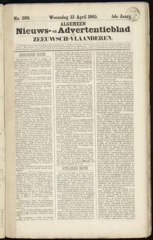 Ter Neuzensche Courant. Algemeen Nieuws- en Advertentieblad voor Zeeuwsch-Vlaanderen / Neuzensche Courant ... (idem) / (Algemeen) nieuws en advertentieblad voor Zeeuwsch-Vlaanderen 1865-04-12