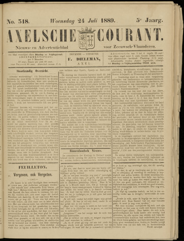 Axelsche Courant 1889-07-24