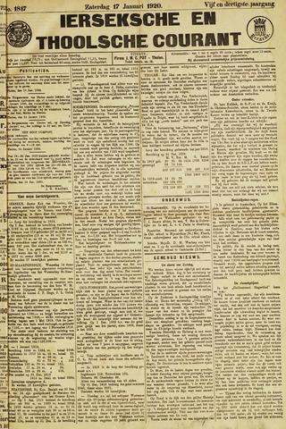 Ierseksche en Thoolsche Courant 1920-01-17
