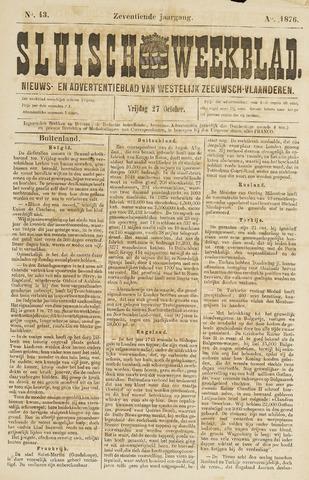 Sluisch Weekblad. Nieuws- en advertentieblad voor Westelijk Zeeuwsch-Vlaanderen 1876-10-27