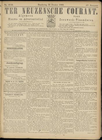 Ter Neuzensche Courant. Algemeen Nieuws- en Advertentieblad voor Zeeuwsch-Vlaanderen / Neuzensche Courant ... (idem) / (Algemeen) nieuws en advertentieblad voor Zeeuwsch-Vlaanderen 1901-10-31
