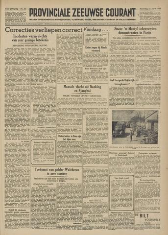 Provinciale Zeeuwse Courant 1949-04-25