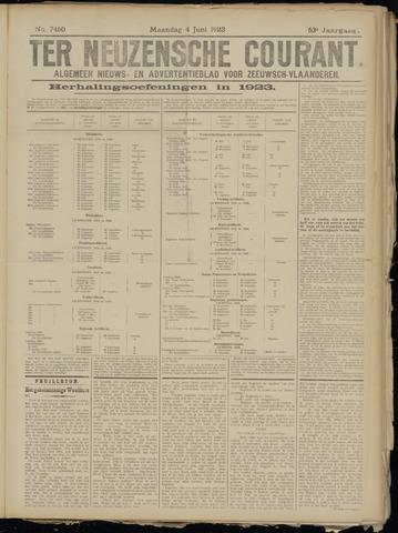 Ter Neuzensche Courant. Algemeen Nieuws- en Advertentieblad voor Zeeuwsch-Vlaanderen / Neuzensche Courant ... (idem) / (Algemeen) nieuws en advertentieblad voor Zeeuwsch-Vlaanderen 1923-06-04