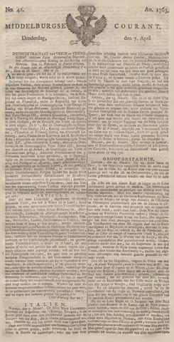 Middelburgsche Courant 1763-04-07