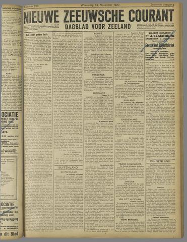 Nieuwe Zeeuwsche Courant 1920-11-24